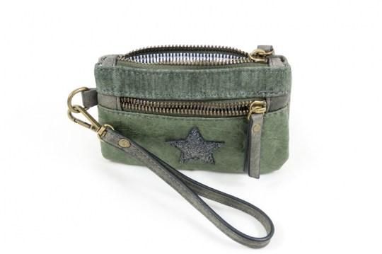 56d444b152c kleine portemonnee ster - groen - Viva Podolux