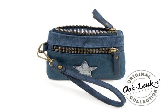 0ef98e091cf kleine portemonnee ster - blauw - Viva Podolux